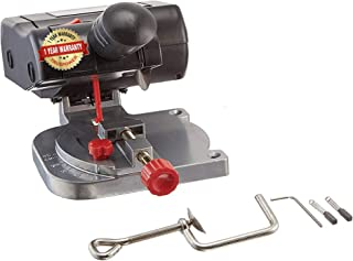 TruePower Mini Cut-Off Chop Saw for Hobby Miniature Model Making, Arrow Shafts, Zinc Stained Glass Came, 223/5.56 Brass - Cut Upto 1/2