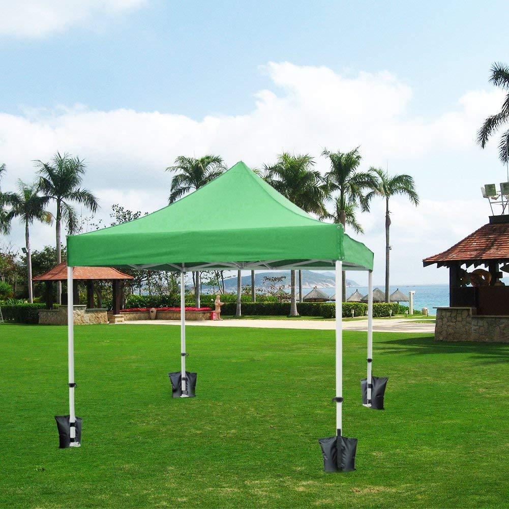 RIOGOO 4pcs-Pack Pesos para Carpas Bolsas Pesadas de Arena Cosida de Grado Industrial para Trabajo Pesado, Pesas de piernas para Pop-up Canopy Carpa Pies Cargados: Amazon.es: Jardín