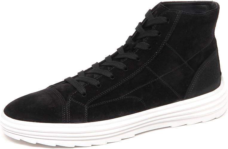 Hogan E4990 Sneaker Uomo Nero H341 Helix Hi Top Scarpe Suede Shoe ...