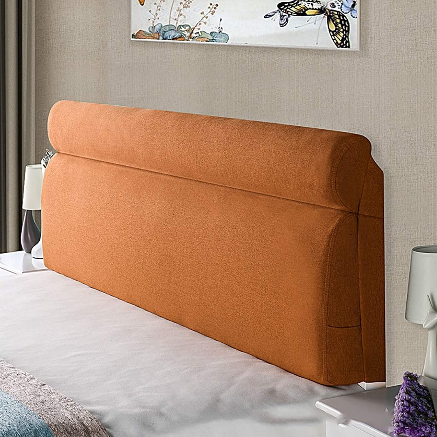 Large Soft Upholstered Headboard Cushion Wall Pillow Lumbar Pad Bed Backrest Breathable Removable Washable (color   D, Size   120CM)