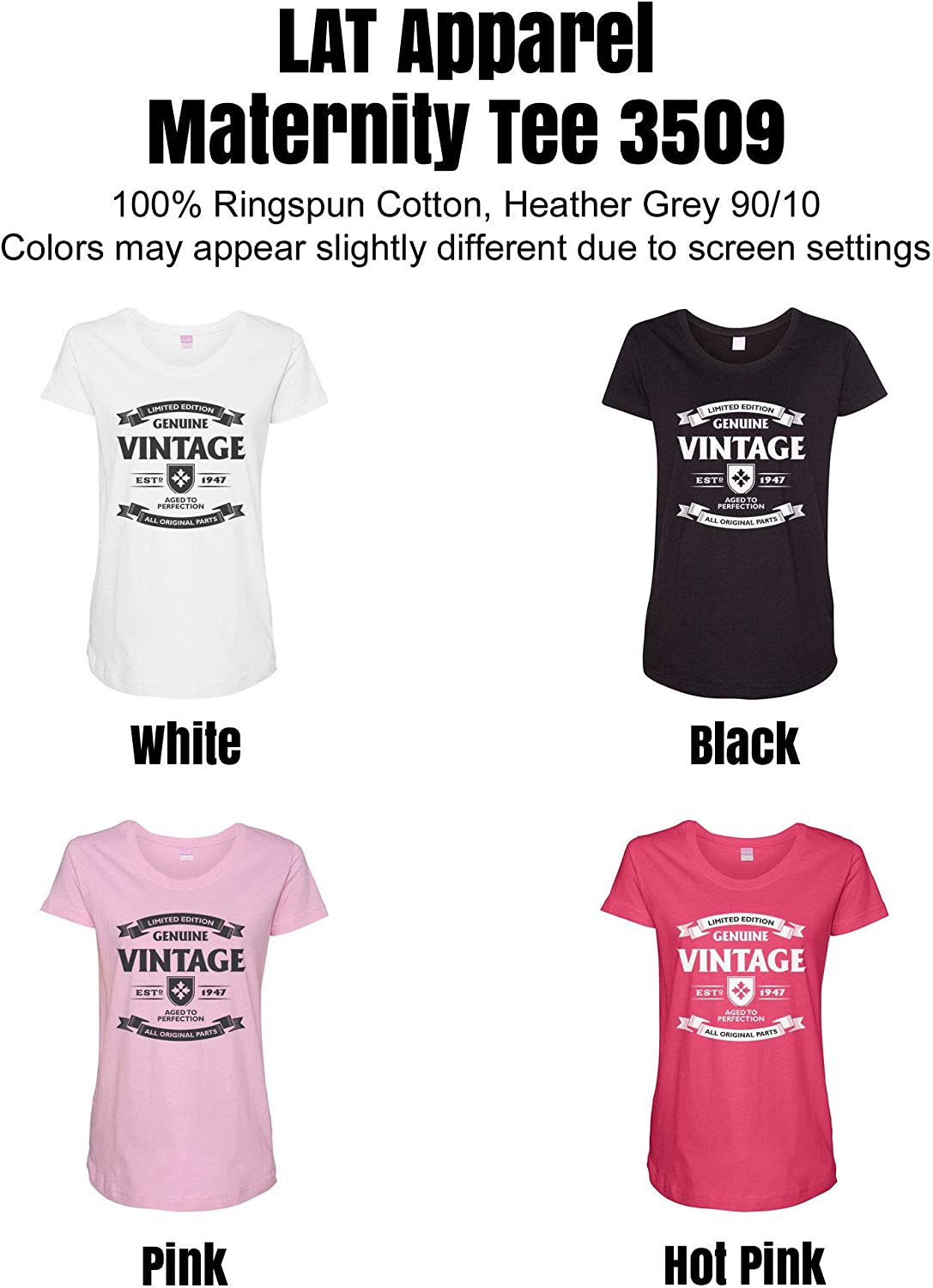 HARD EDGE DESIGN Women's Aged to Perfection - 1947 T-Shirt