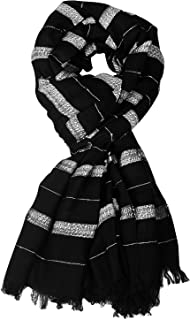 Aimee Unisex Black Panther Cotton Viscose Scarf for Men & Women