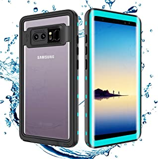Transy Samsung Galaxy Note 8 Waterproof case,IP68 Certified Full-Body Protective Underwater Cover with Built-in Screen Protector Design for Galaxy Note 8 (blue1)