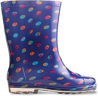TOMS Blue Dots PVC Youth Rain Boots 10006266