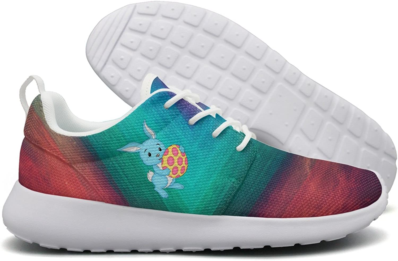 Easter bluee Bunny With Egg Women Flex Mesh Lightweight shoes Women