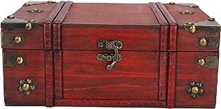صندوق مجوهرات خشبي، صندوق خشبي مزخرف من الخشب الحرفية للمخزن مستحضرات التجميل والمجوهرات والحروف الرئيسية التخزين