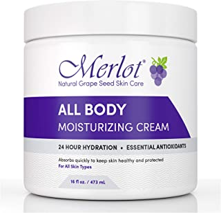 MOISTURIZING BODY CREAM BY MERLOT | FOR ALL SKIN TYPES | 16 OZ