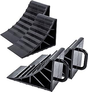 ProPlus onderlegwig kunststof zwart set van 4 met handvat voor caravans, campers en aanhangers