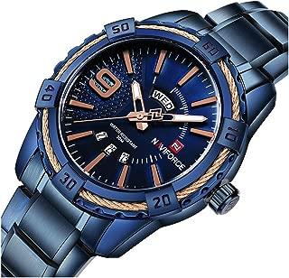 Men's Luxury Analog Day Date Quartz Waterproof Wrist Watches Business Stainless Steel Wrist Watch