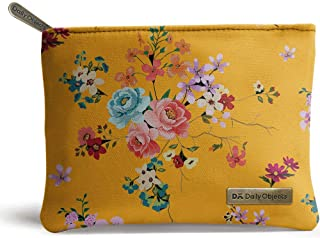 DailyObjects Mustard Floral Tiny Stash Pouch