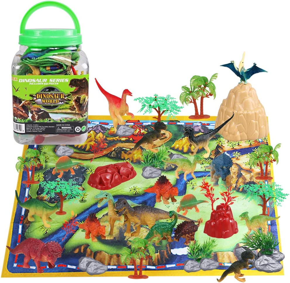 Dinosaur Toy Playset 60 2021 70% OFF Outlet spring and summer new Piece Realistic Dino Educational 26 with