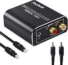 DAC Converter, Techole Aluminum 192KHz Digital/Toslink to Analog RCA L/R Audio Converter Adapter with Optical Cable, Coaxial Cable, USB Cable Powered For PS3 PS4 Xbox HDTV Blu-ray Sky HD Apple TV