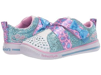 SKECHERS KIDS Twinkle Toes Twinkle Play 20333N (Toddler/Little Kid) (Light Blue/Pink) Girl