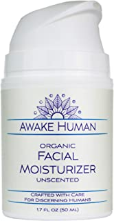 Organic Face Moisturizer, Unscented Natural Face Cream for Every Skin Type, Mostly Aloe, Jojoba, Green Tea, Shea Butter, S...