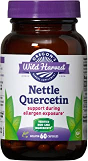 Oregon's Wild Harvest Nettle Quercetin Capsules, Non-GMO Organic Herbal Supplements, 60 Count