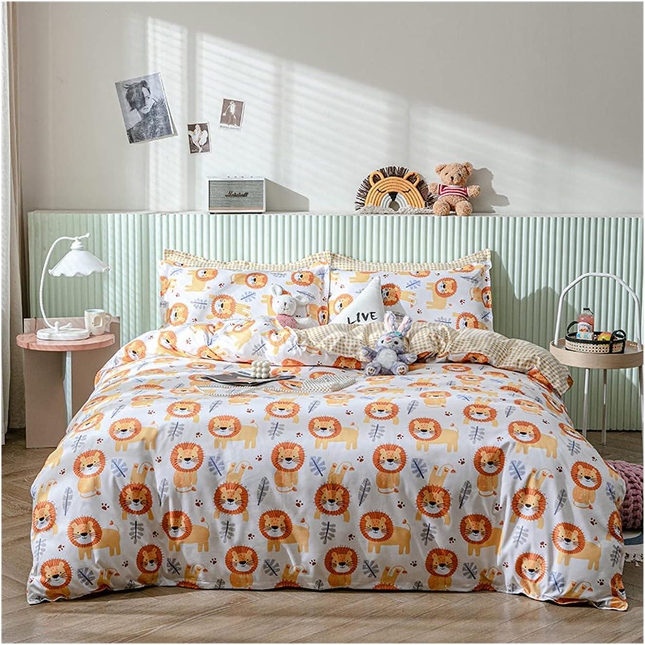 LSDJ QMDSH Home Textile Girl Bedding Peach Set Baltimore Mall Cover Duvet Regular discount Pink