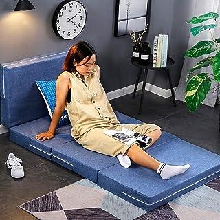 Colchón de espuma viscoelástica de 4 pulgadas de grosor, plegable, lavable, para dormir, individual, individual, individual, individual, individual, individual, individual, 2 unidades