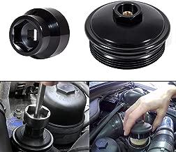 6.0L/6.4L Powerstroke Diesel Fuel Filter/Oil Filter Flip Socket and Fuel Filter Cap Billet Aluminum for 2003-2007 Ford 6.0L Powerstroke Diesel 6.0 F250 F350 F450 F550