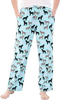 Alexander Del Rossa Women's Flannel Pajama Pants, Long Cotton Pj Bottoms, Large Happy Dogs on Mint (A0702R74LG)