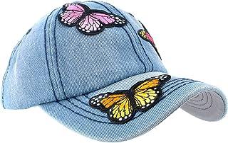 Elonmo Butterfly Design Bling Womens Baseball Caps