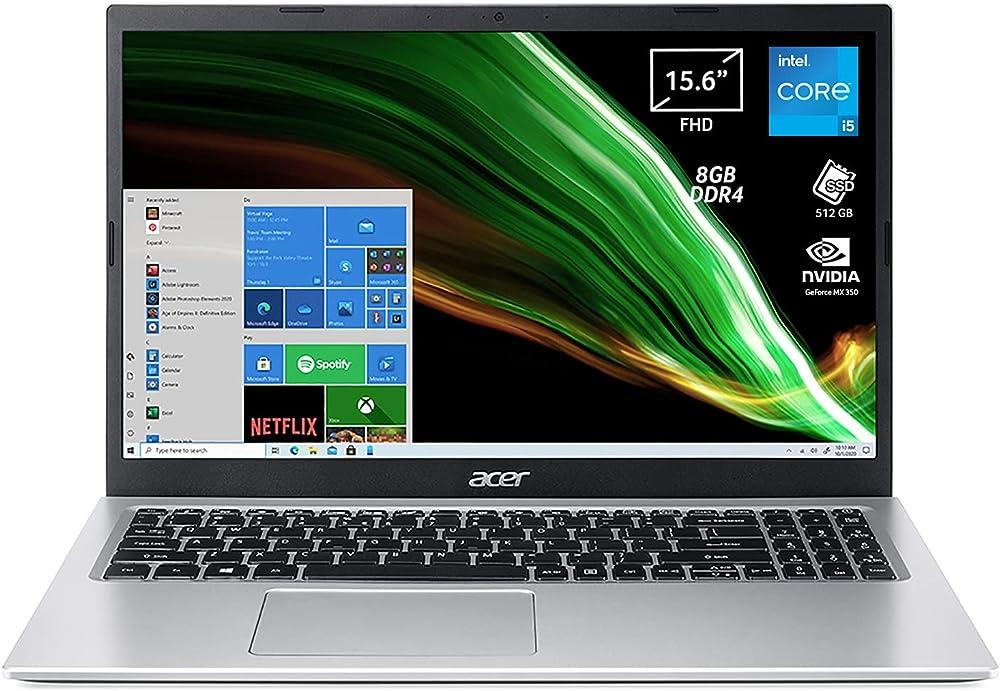 Acer pc portatitle intel core i5 nvidia geforce mx350 2 gb ram 8 gb ddr4 512 gb pcie nvme ssd A315-58G-5450