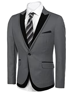 COOFANDY Men's Casual Suit Blazers Slim Fit Stylish Notched Lapel Suit Coat One Button Suit Jacket