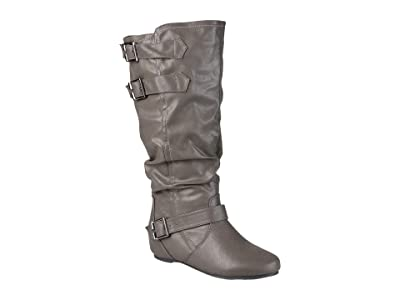 Journee Collection Tiffany Boot Wide Calf (Grey) Women