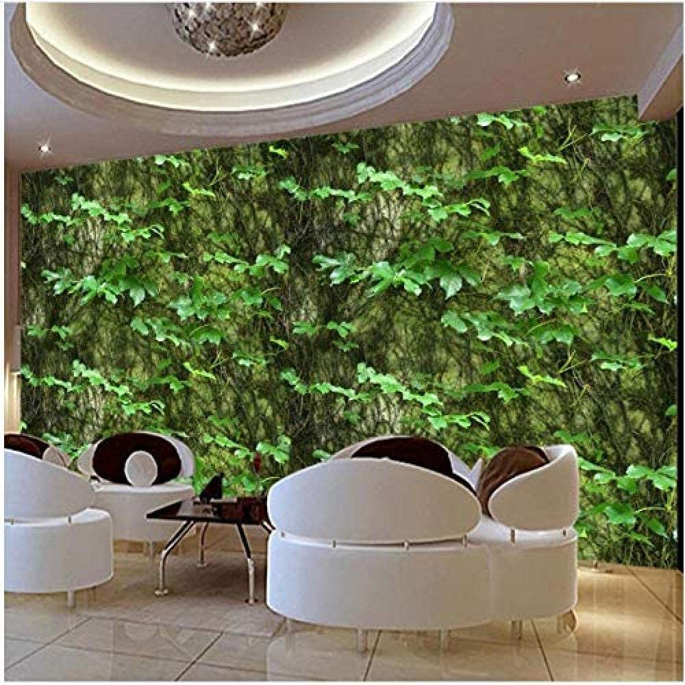 Clhhsy Waterproof and Removable Our shop OFFers the best service Photo Green Vine Fl 3D Indianapolis Mall Wallpaper