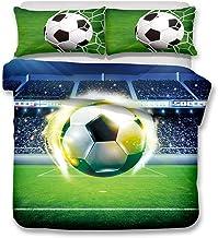 Ropa de cama 180 x 220 cm - Cama 120 cm/135 cm Copa mundial Llama El fútbol 3D Patrón Imprimiendo Funda nórdica y funda de almohada 2 piezas Fibra ultrafina de poliéster Suave y transpirable