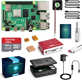 LABISTS Raspberry Pi 4 4 GB Kit Incluido Tarjeta SD de 64GB Precargada con Raspberry Pi OS, 5.1V 3A Tipo C con On/Off, Mic...
