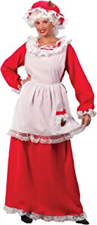 Fun World Womens Mrs. Claus Halloween Party Dress Costume Red O/S