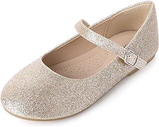 SANDALUP Little Girls Mary Jane Flats Dress Ballet Shoes