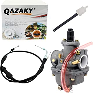 QAZAKY Throttle Gas Cable + Carburetor Carb Replacement for Yamaha PW 80 PW80 Carb Y-Zinger Yzinger 1983-2006
