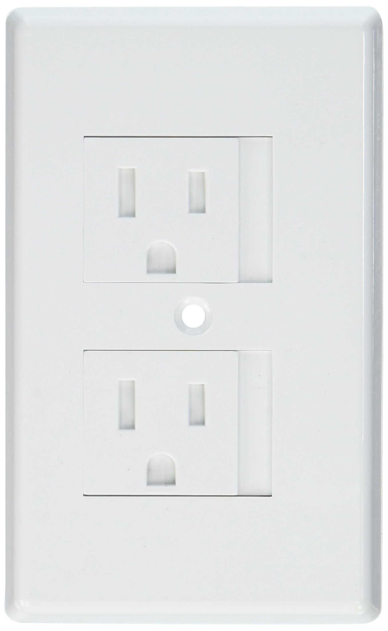 Pack TWELVE 12 Works with Standard Single or Decora Double Screw Outlet Kidco Universal Outlet Covers in White