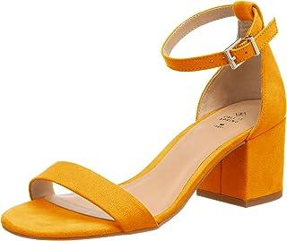 Para Zapatos esAmarillo De Tacón Mujer Amazon BrxedCo