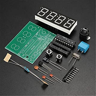 DAOKI C51 4 Bits Digital LED Electronic Clock Production Suite DIY Kits Set