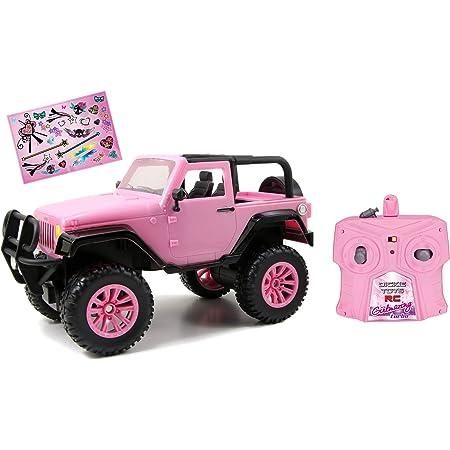 Dickie Toys Coche teledirigido Jeep Wrangler RC SUV Girlmazing, Coche teledirigido con 2 Canales, 2,4 GHz, Turbo, Incluye Pegatina, a Partir de 6 años, Color Rosa metálico Brillante