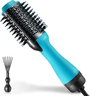 Hair Dryer Brush, LARMHOI 3 IN 1 Hot Air Brush with Straightening, Curling, Fast Drying, LED Indicator, 3 Settings, Painless One Step Hair Dryer & Volumizer for Hair Styling, Reducing Frizz