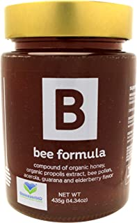 Bee Formula Superfood Honey - Energize Your Mind & Body, Aide with Immune Support, Organic Honey, Organic Propolis, Bee Po...