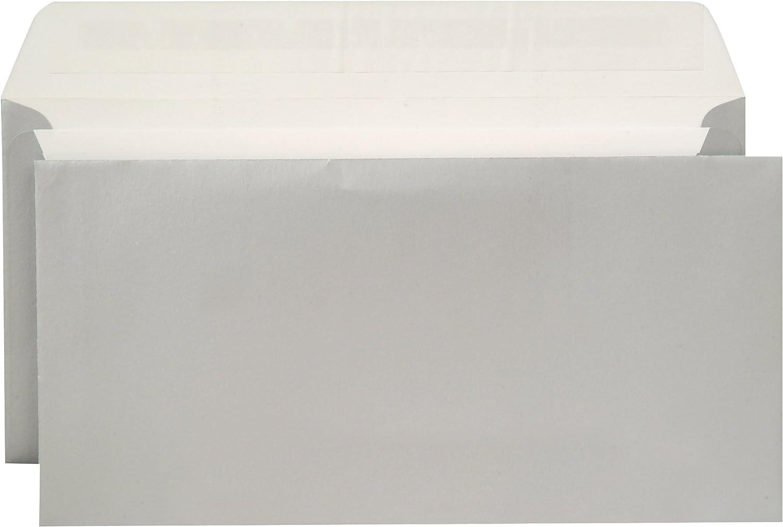 Metallics Briefumschläge   silber silber silber - metallisch   114x229 mm (Din lang)   mit Abziehstreifen   haftklebend   100 Stück B071LLYDB1   Ausgezeichnete Qualität  775fa6