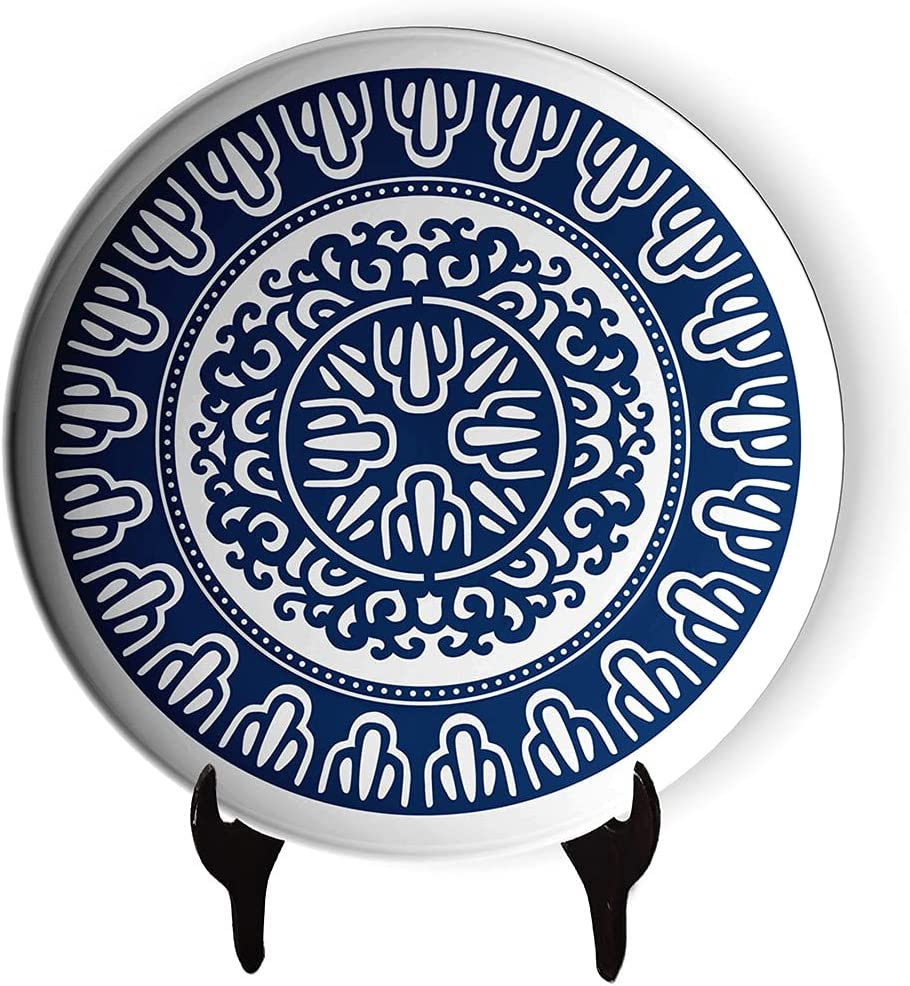 Classic Blue and White Porcelain Ranking TOP5 sold out Household Plate Decorative Eleg