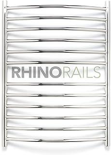 rhinorails 810mm x 600mm curvada Acero Inoxidable–Toallero eléctrico calefactor  –Baño Radiador