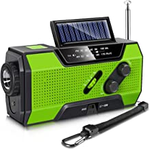 Alice Dreams Emergency Solar Hand Crank Portable Radio, NOAA Weather Radio for Household and Outdoor Emergency with AM/FM, LED Flashlight, Reading Lamp, 2000mAh Power Bank USB Charger and SOS Alarm