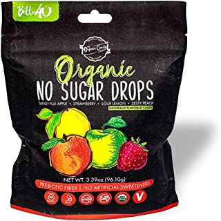 Better4Ü Organic No Sugar Fruit Drops, Assorted Flavors, 3.39 Ounces