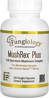California Gold Nutrition Fungiology, MushRex Plus, Full-Spectrum Mushroom Complex, Certified Organic, Immune Assist Micro...