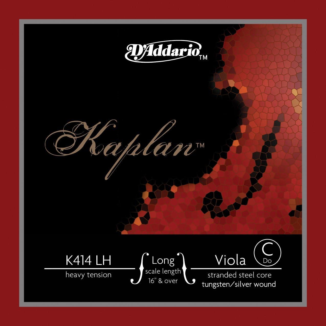 D'Addario Kaplan Viola Single wholesale C String HeavyTension Scale Max 89% OFF Long