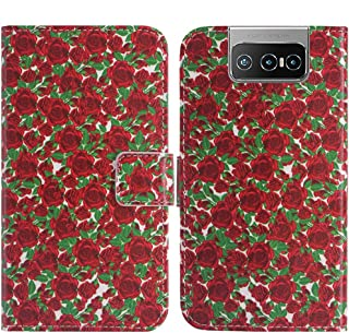 TienJueShi Flower Fashion Stand TPU Silicone Book Stand Flip PU Leather Protector Phone Case For Asus Zenfone 7 Pro ZS671K...