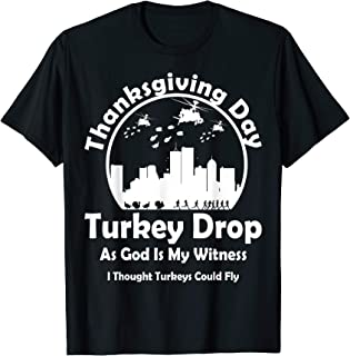 Turkey Vintage Drop Thanksgiving Day Funny T-Shirt