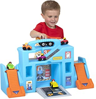 Simplay3 Carry & Go Durable Garage Portable Playset for Children's Toy Cars and Trucks