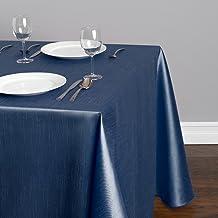 "LinenTablecloth Rectangular Shantung Silk Tablecloth, 90 x 156"", Navy Blue"